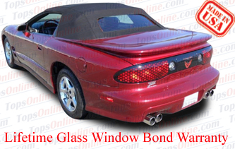 Convertible Tops & Accessories:1994 thru 2002 Pontiac Firebird & Trans Am